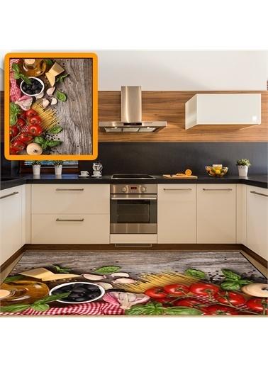 Halı Sebzeli Modern Mutfak Halıları 80X150Cm Renkli